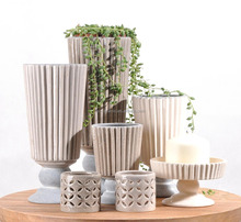 Wholesale Modern Simple ceramic flower decoration wedding vases for home decoration