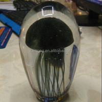 High quality black jellyfishes glass gift