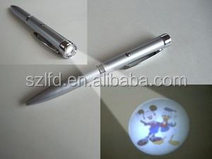 Advertising Light Up Projection Pen,Custom Laser Led Logo Pen Sized Projector l,led ballpen for promotional gifts