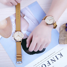 Two Hands Leather Strap Cheap Popular Cute Couple Watch