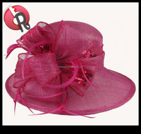 women big sinamay church hats