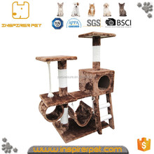 2017 hot sale funny wood cat tree natural