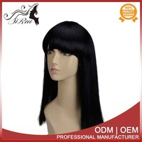 High tempreture fiber 18 inch synthetic front lace wig,black pigtail wig,ciara lace wig