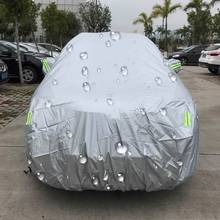 PEVA Anti-Dust Waterproof Sunproof SUV Car Cover with Warning Strips, Fits Cars up to 5.3m(207 Inches) In Length