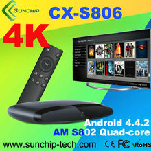 High Performace Amlogic S802 Quad Core 2.0GHz Mali450 2G/8G 2.0MP/ 5.0MP Camera 4K2K HDMI OTA Android TV Box