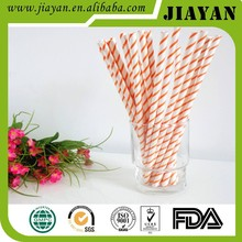 newest shape party color stripped paper straight drink straw