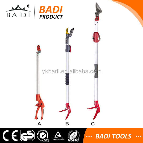 high limb pole tree pruner with long aluminum handle