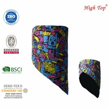 BSCI 100% polyester plain dyeing fleece triangle bandana face mask
