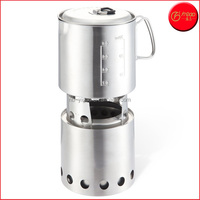 Stove & Pot 900 Combo: Ultralight Wood Burning Backpacking Cook System. Lightweight Kitchen Kit for Backpacking, Camping