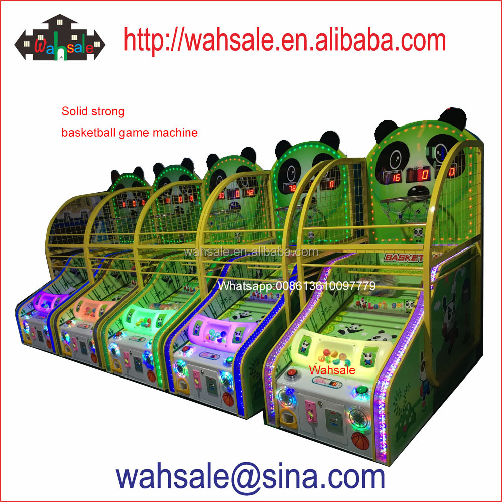 2017 solid strong kids coin <strong>operated</strong> Basketball game machine with capsule prize