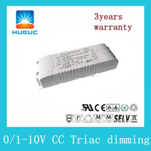 ETL/UL listed 0-10v output 1500ma 40v Triac Dimmable led driver