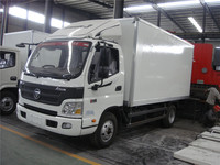 top quality fashionable 6 wheeler cammins 141HP 8ton foton van price