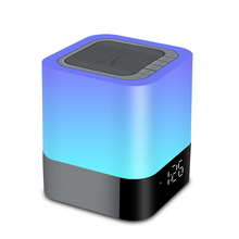 Built in Alarm Clock and Hands-free Function touch lamp LED colorful lights bluetooth speaker