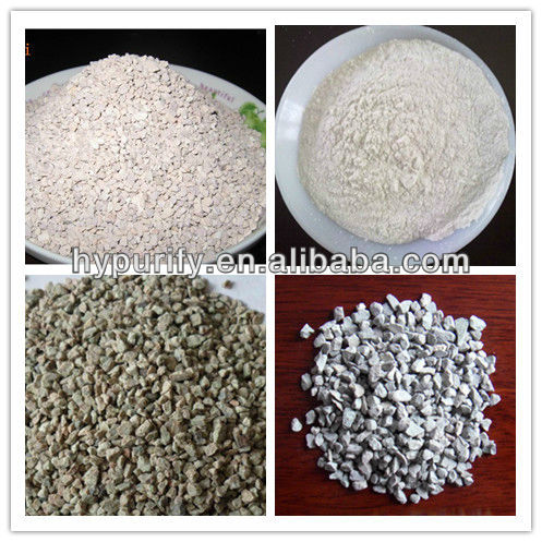 zeolite filter material for drinking water purification