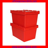 340 Stacking Plastic Moving Security Virgin Crate