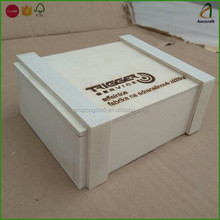 Plywood Packging Boxes Manufacture with Laser Engraved Logo