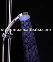7 colors led shower head with temperature display