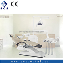 Double articulate headrest Dental Chair Unit Foshan Dental Equipment with ce