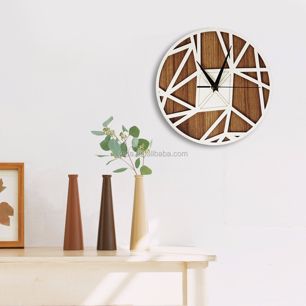 Carved Wood Wall Clock