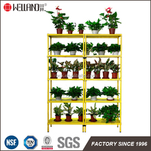 High quality facoty supply green house wire shelving and standing flower pot metal rack