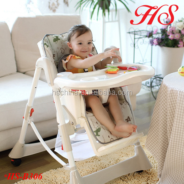 Folded plastic high chair baby kids sitting feeding chair