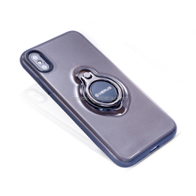 360 degree rotating ring with ultra slim complete TPU PC stand phone cover case for iphone x 8 7 6