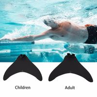 Swimming Training Children/Adult Type Swimming Fins Mermaid Swimming Foot Flipper Training Shoes Diving Feet Monofin Newest