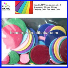 adhesive felt circles for crafts