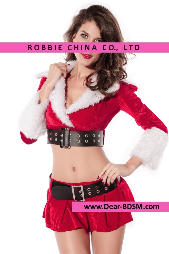 2016 Newly Winter Women Cosplay Party Red Christmas Costumes Club Sexy Holiday Pleasure Clothes Adult New Year Costumes