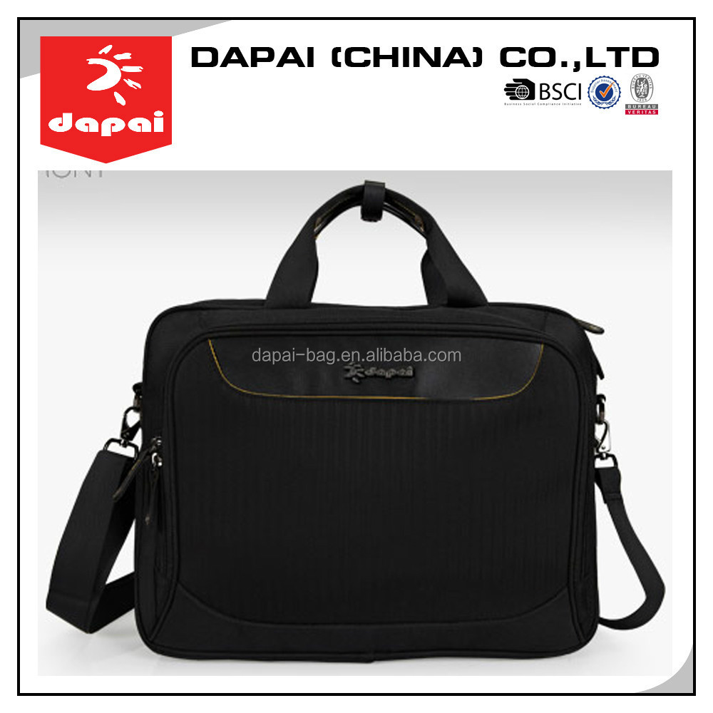 stock bag!Quanzhou dapai promotional 16inch black laptop carrying case and laptop brefcase