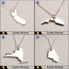 Personalize fashion sliver state charms
