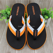 Ladies style cotton fabric strap flip flops slippers