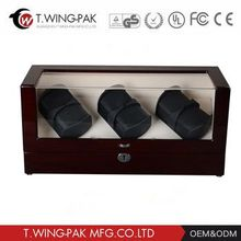 Hot Sale China Handmade Automatic Wood Watch Winder with 4 Capacity for Watch Display