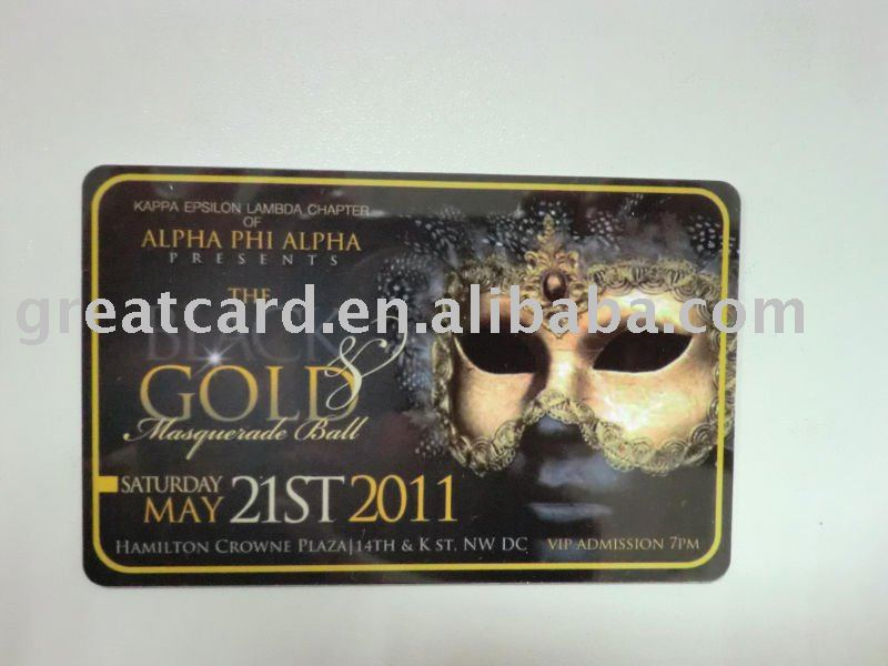 Golden VIP Admission Card