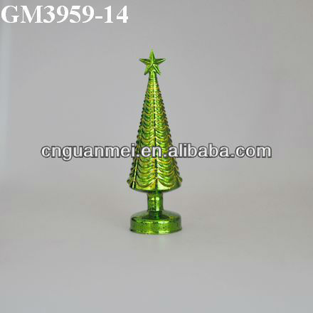 2013 new product/Christmas glass tree with led light
