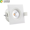 Triac Dimmable RA 92 Gyro Square IP44 9W Led COB Recessed Downlight Without Downlight Box