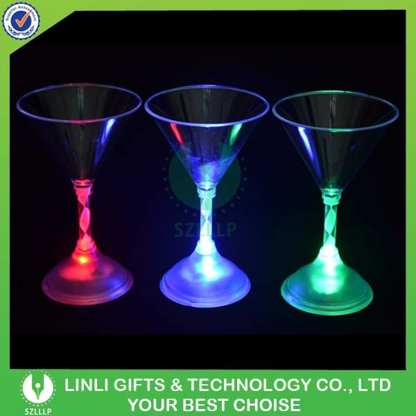 Party Favor Lighting Colorful Martini Glass Led