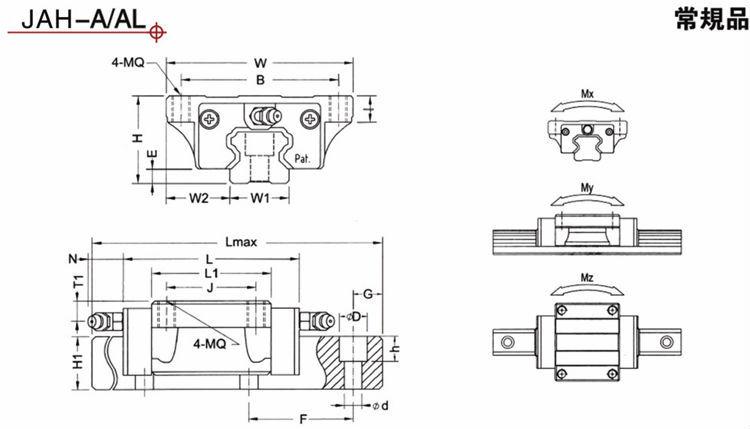 Linear Rail Brake : Cnc linear guide rail jiean robot