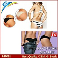 Brazilian Secret lift the hips briefs sexy Lingerier Underwear Padded Pantys Beautify Buttocks up panty
