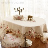 western cutwork embroidery tablecloth