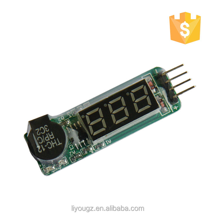 Wholesale Price Indicator 1-8s RC Lipo Battery Voltage Tester Low Voltage Buzzer Alarm With LCD Display
