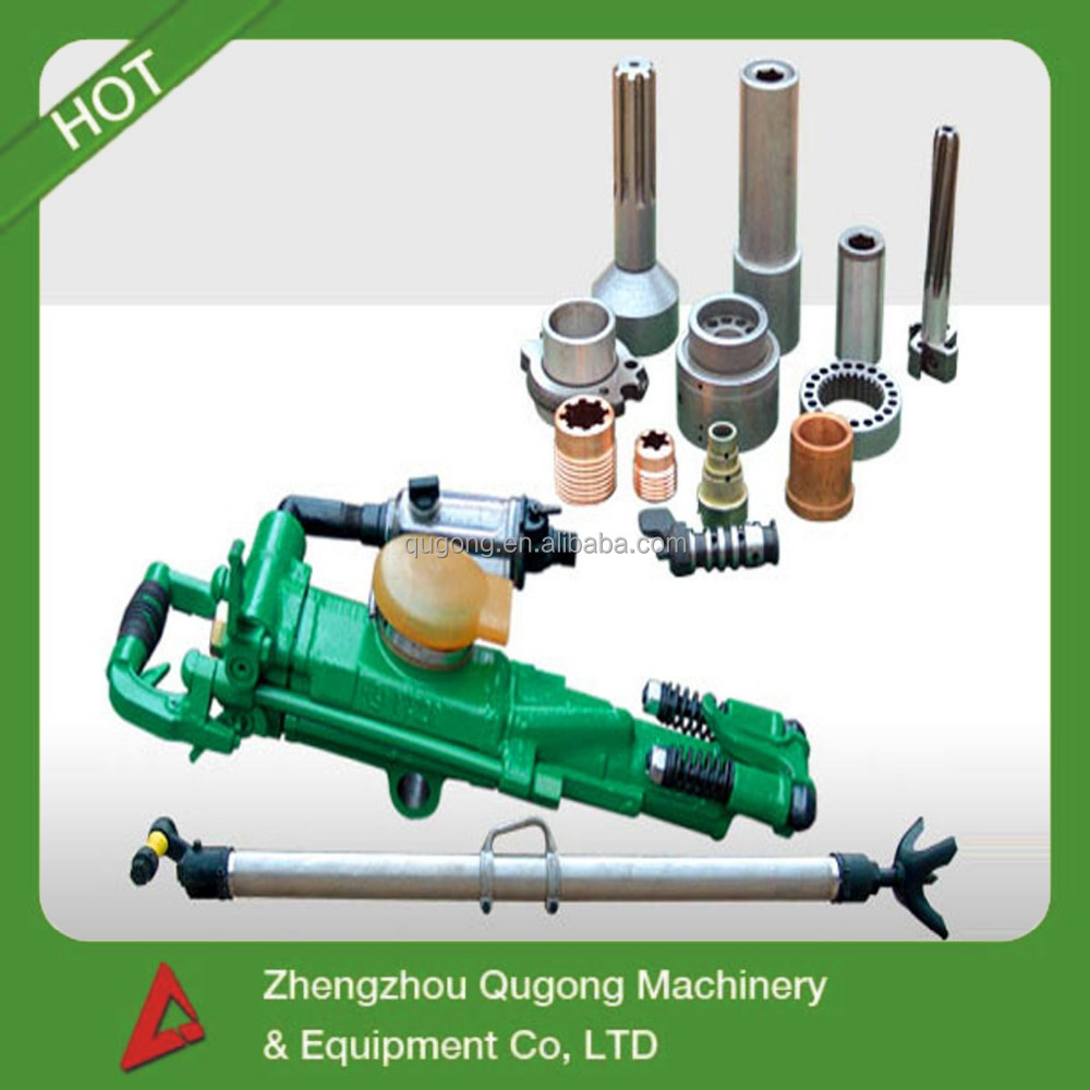YT28 pneumatic air leg hand hold jack hammer drill, mini rock drilling machine for tunnel bore drilling