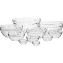 Wholesale clear heat resistant glass bowl for microwave oven
