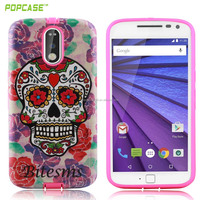 Guangzhou make crashproof cell phones smartphones shell ,2 in 1 combo case ,phone accessories for Motorola G4