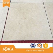 Custom logo beige marble flooring images With Professional Technical Support