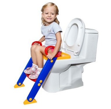 Baby safety potty chair and pp plastic material children's kids toilet seat with foldable ladder