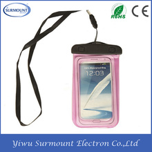 Promotional Gifts mobile phone PVC water resist cases waterproof cell phone bag