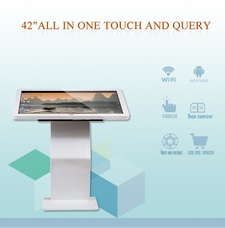 2017 fashion information kiosk touch screen disply stand