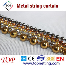Metal beaded drapery/Ball chain curtain/Metal string curtain
