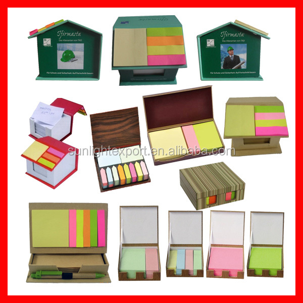 house shaped sticky note memo pad in wood pallet